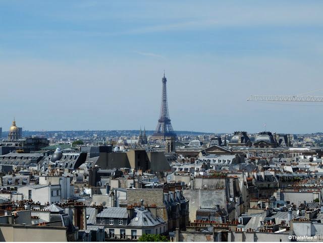 Vue de la Tour Eiffel Beaubourg Paris centre George Pompidou