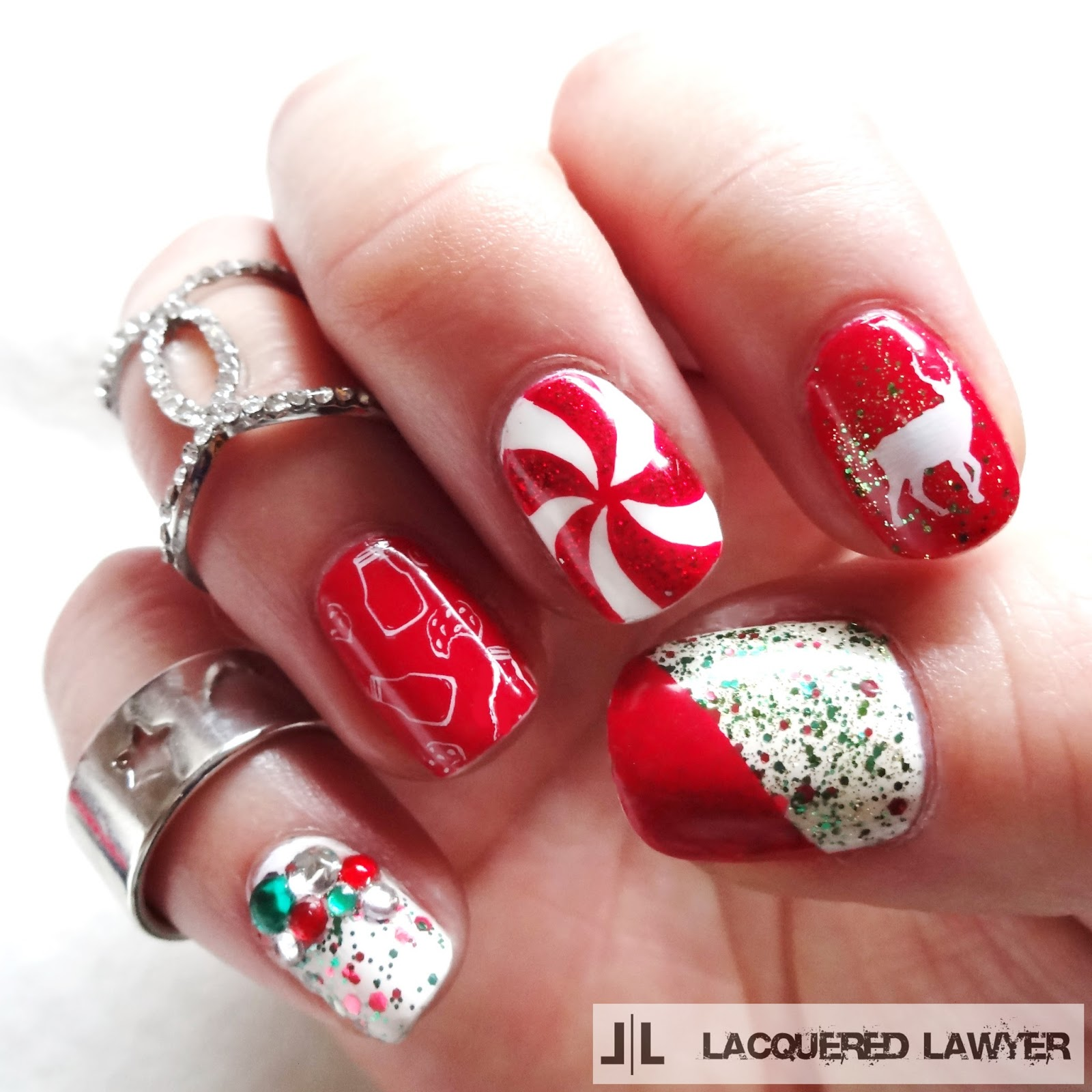 Merry Christmas Nail Art
