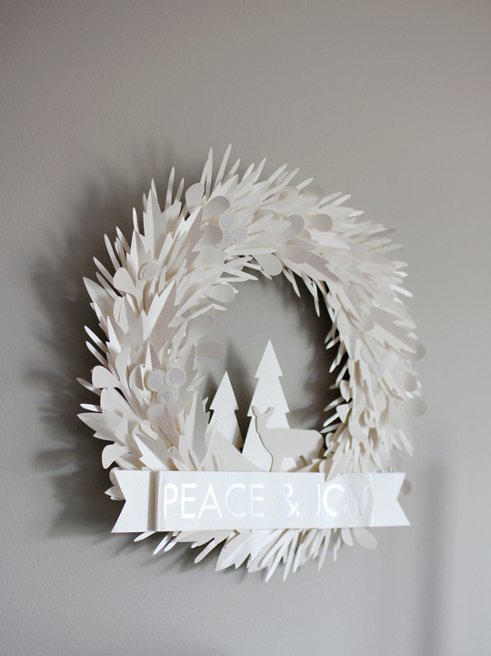 Paper Source winter wreath kit