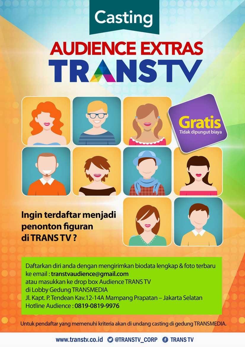 Casting Penonton Figuran Trans TV