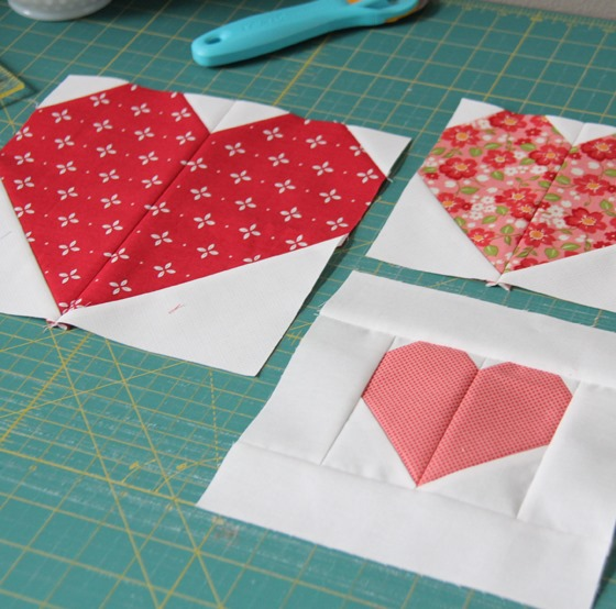 Making Heart Blocks In Multiple Sizes Cluck Cluck Sew Amazing Heart Quilt Pattern