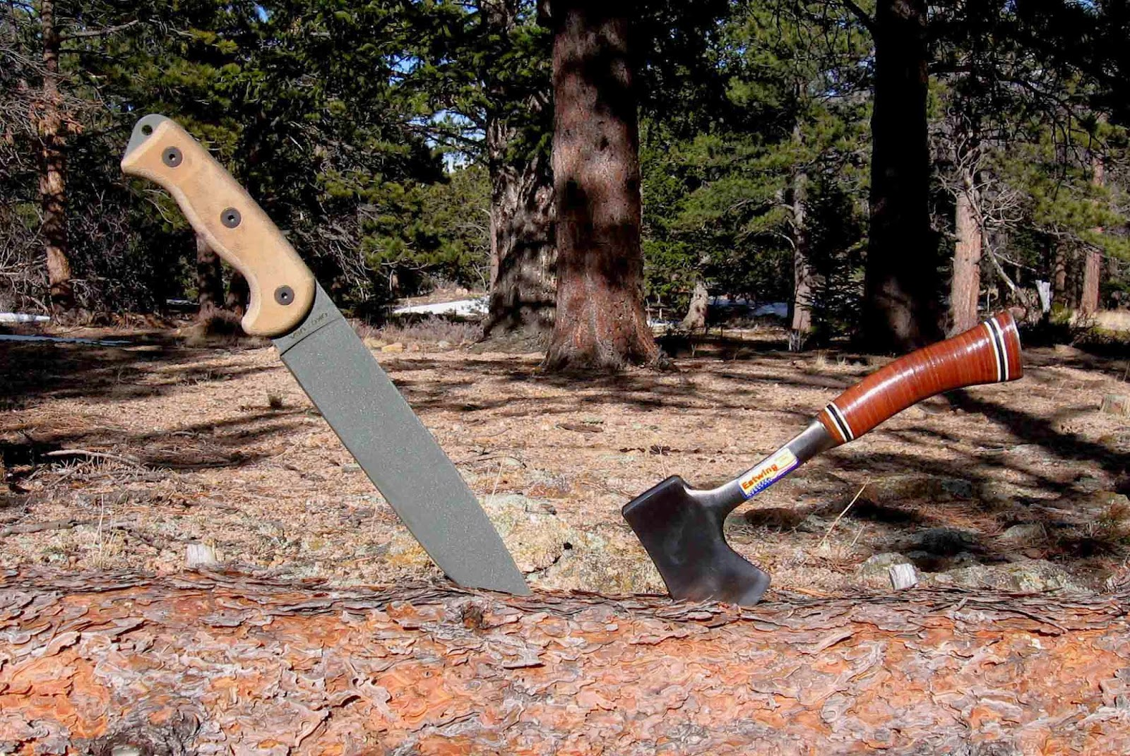 Rocky mountain bushcraft shot show 2014 first impression review - Rocky Mountain Bushcraft Pits A Popular Knife Against A Popular Hatchet To Decide An Age Old Question Which Tool Is The Better Chopper