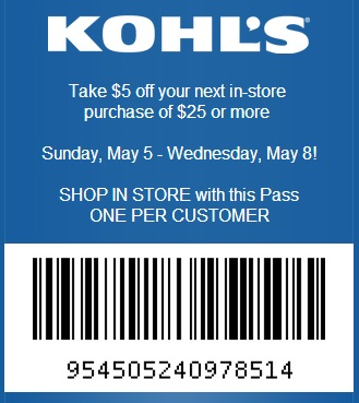 Kohls discount coupons may 2018