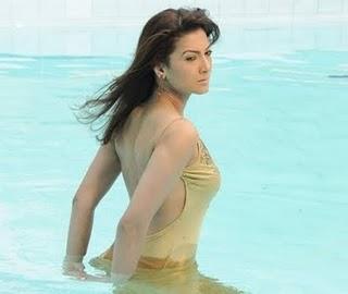 Gauhar Khan In Swimming Pool