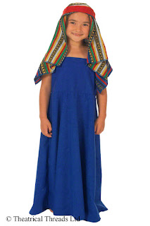 Roman Lady or Slave Girl Kids Costume from Theatrical Threads Ltd