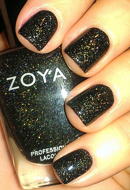 Zoya Ornate black scattered holo