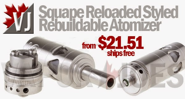 Squape Reloaded Styled Rebuildable Atomizer - Spare Decks Optional
