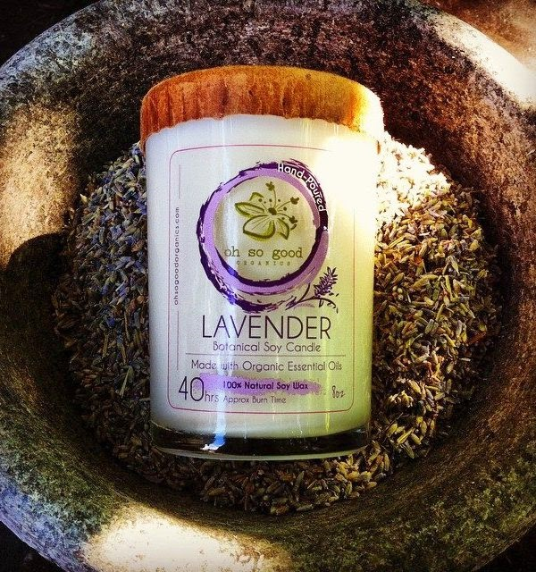 Organic Soy Candle Lavender