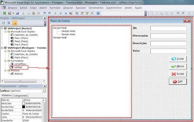 treeview, excel, vba, formulário, macro