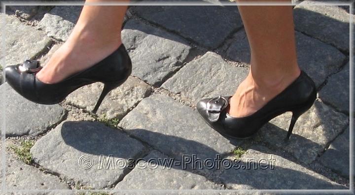 Classic high heels shoes