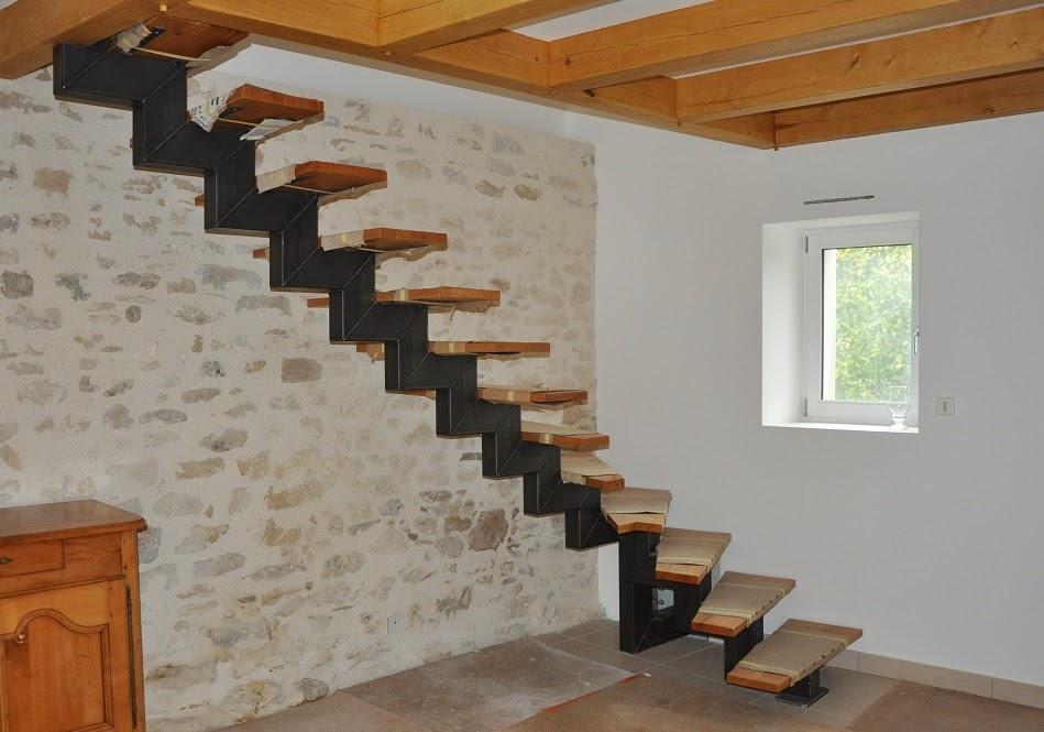 vincent brix cr ations mobilier en acier ambiance indus escalier 1 4 tournant en tube. Black Bedroom Furniture Sets. Home Design Ideas