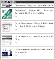 Cara Membuat Widget Recent Posts Bergerak di Blog