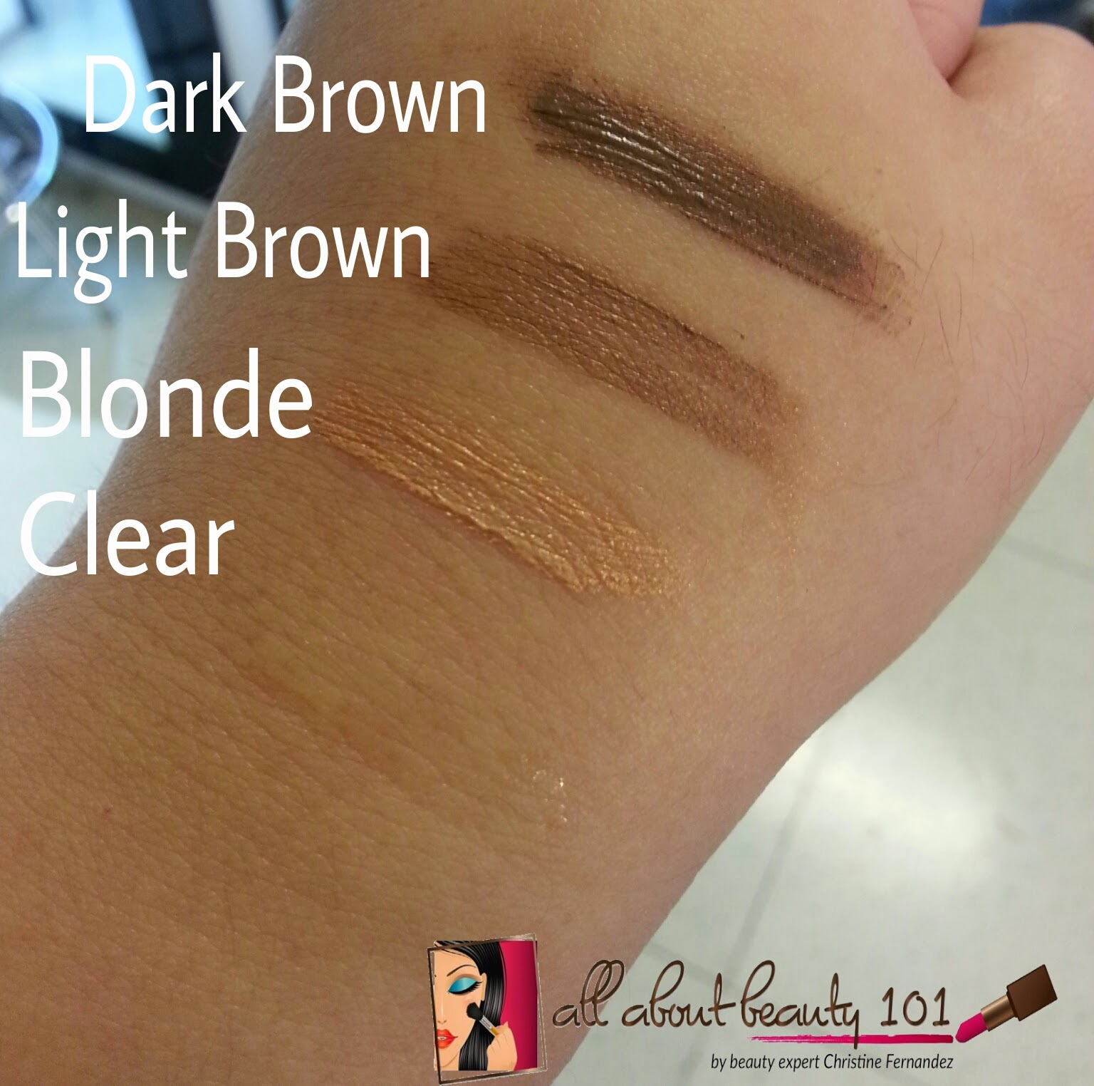 Fashion 21 Eyebrow Mascara Swatches All About Beauty 101