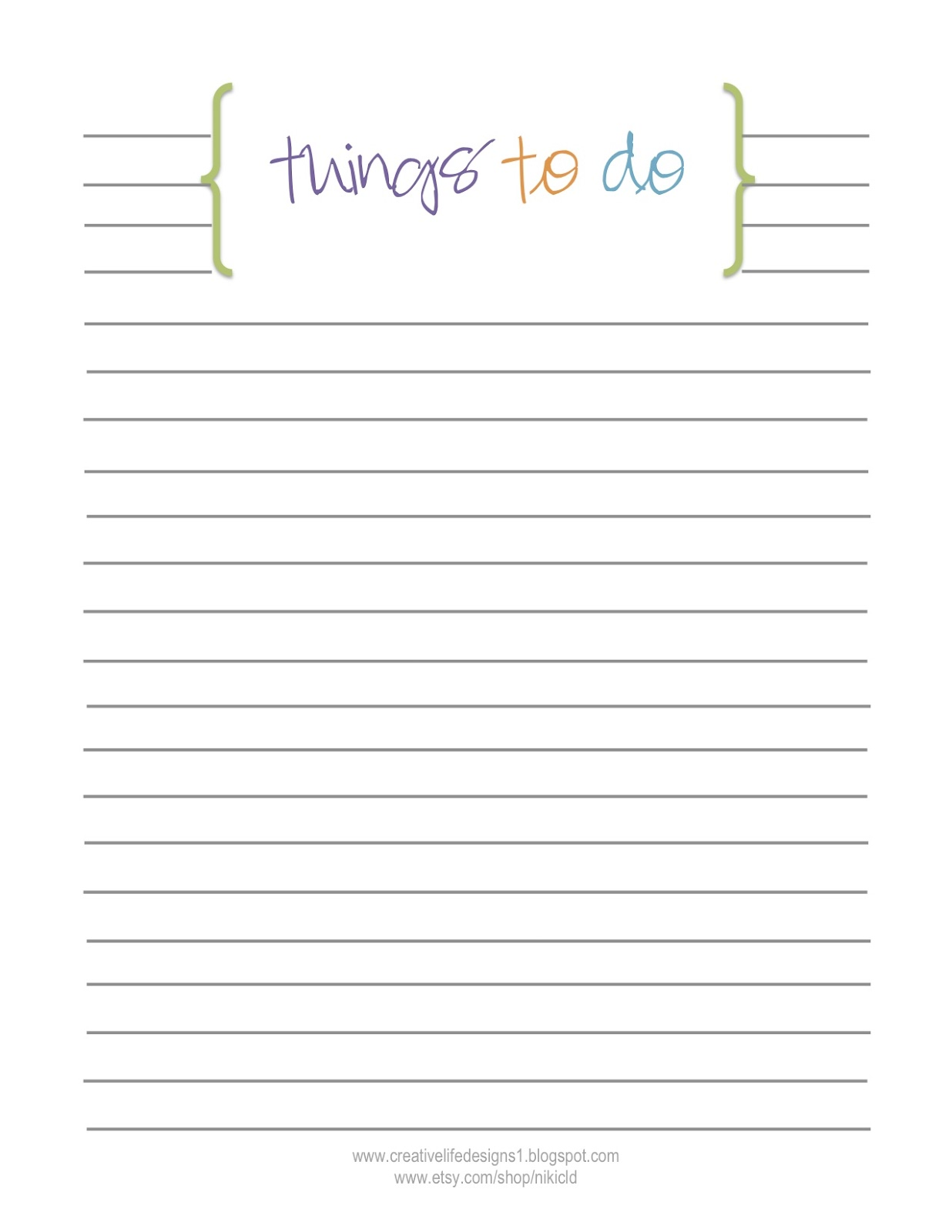 do list template .