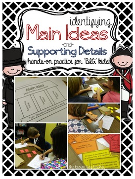 http://www.teacherspayteachers.com/Product/Main-Idea-in-a-Bag-Hands-On-Practice-with-10-Social-Studies-Science-Card-Sets-873395