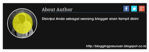 Cara Membuat Widget About the Author ( tentang Penulis ) Blogger #3