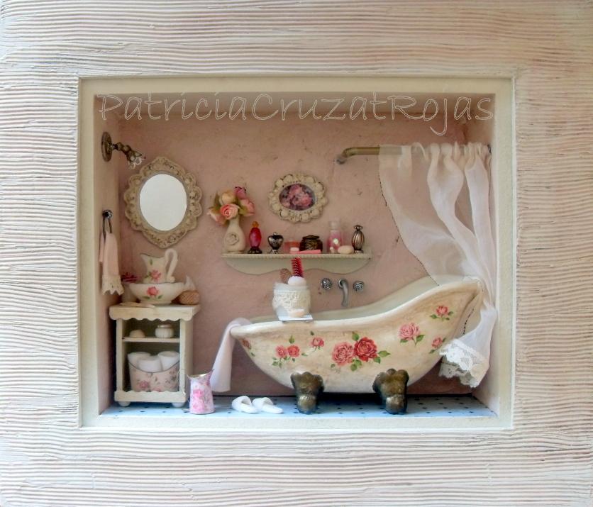 Baño Estilo Shabby Chic: Color: Baño con Miniaturas estilo Shabby Chic para Ella