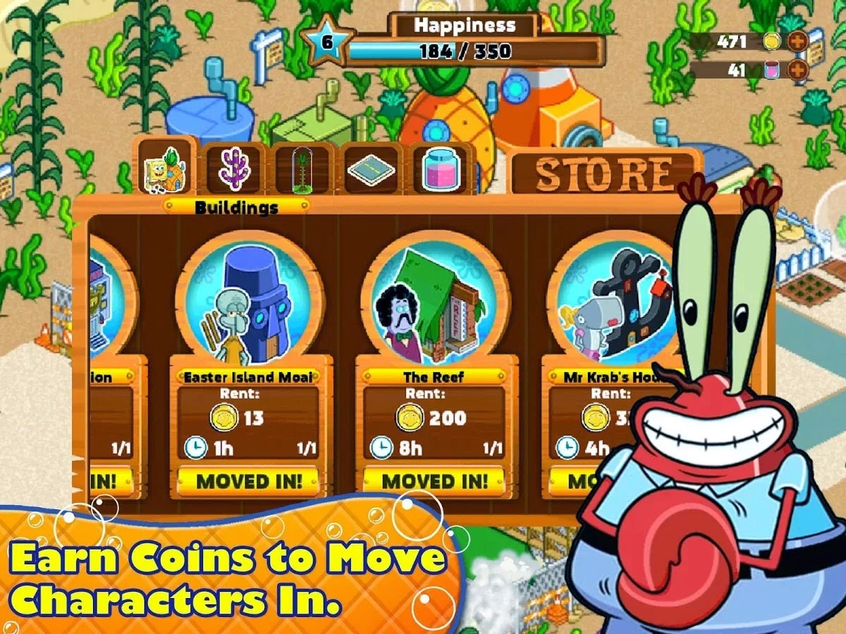 SpongeBob Moves In v4.32.01 Mod