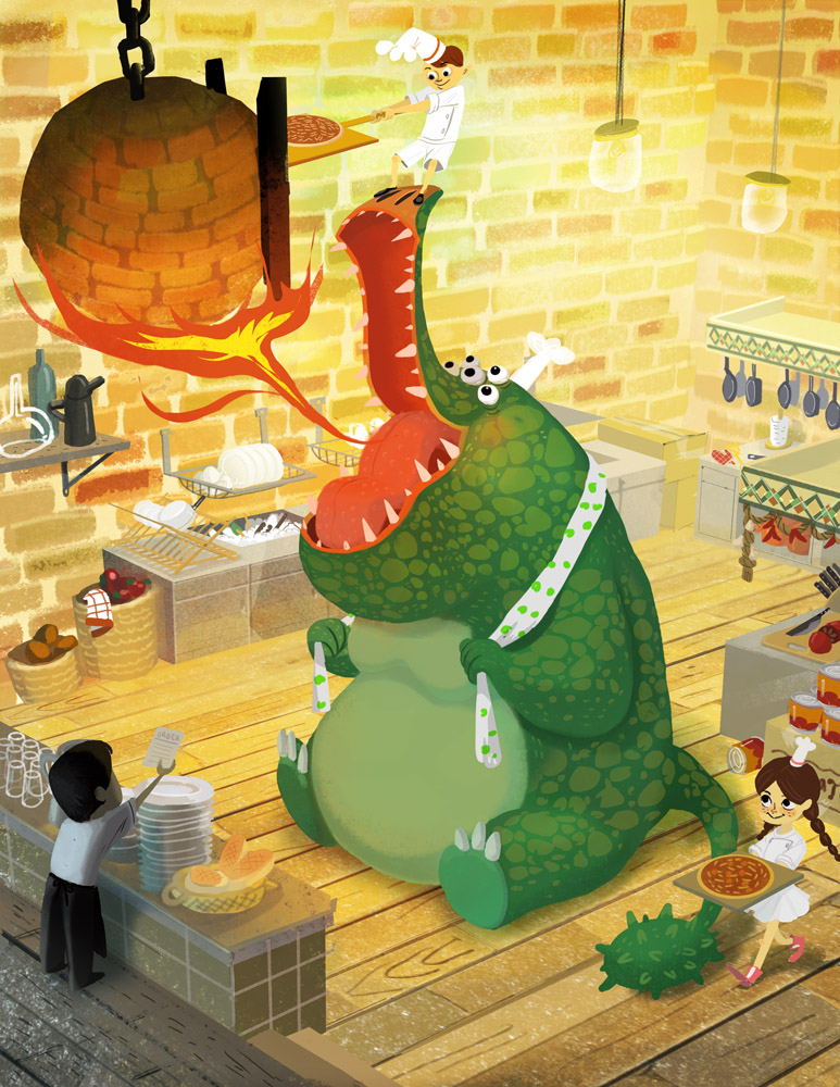 Cake O D For A Dragon In A Pizza Kitchen