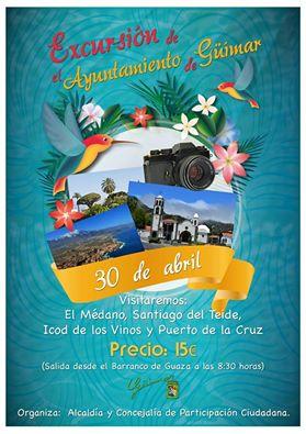Excursión para Todos organizado por Alcaldía y Participación  Ciudadana. Pincha en el enlace