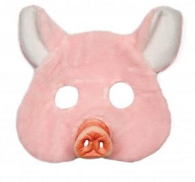 máscara de cerdita fiestas adultas