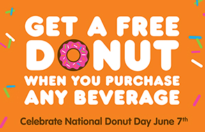 Reminder: Free Donut w/Purchase at Dunkin Donuts on 6/7 | Making Ends