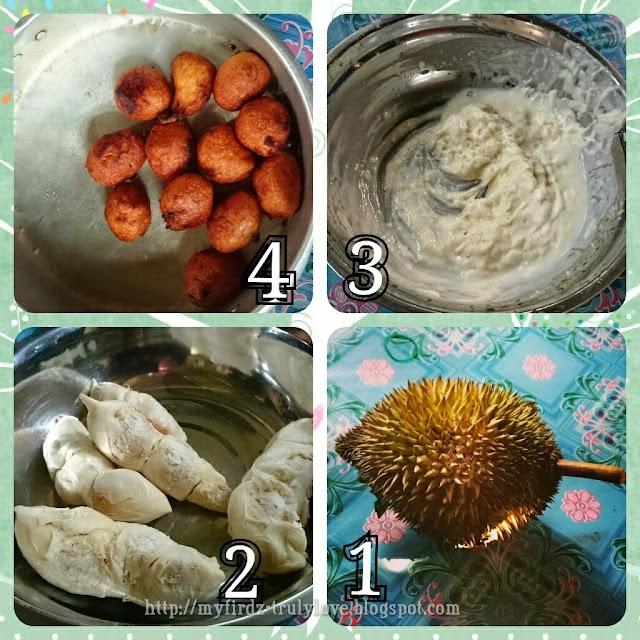 Cekodok Durian Kampung!