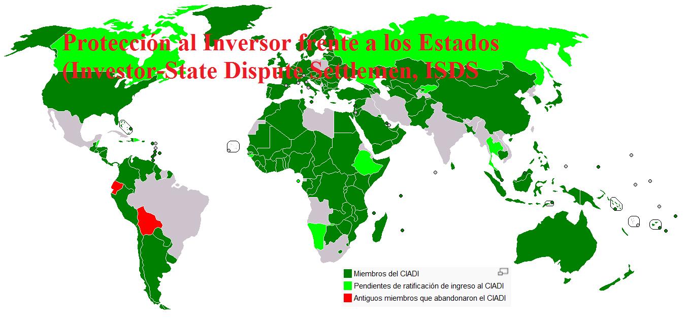 Centro Internacional de Arreglo de Diferencias Relativas a Inversiones (CIADI) ISDS