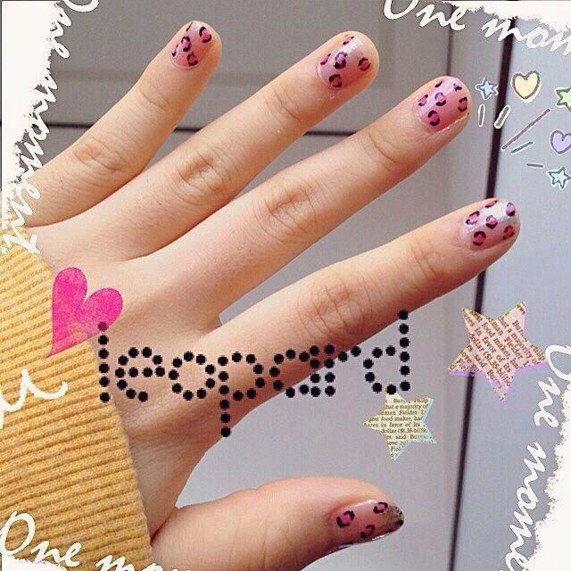 pink nails cute