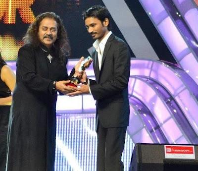 Dhanush at ujala asianet film awards 2012 with hariharan