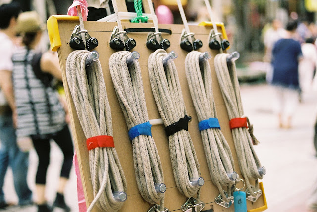 pulleys for the tanabata decorations