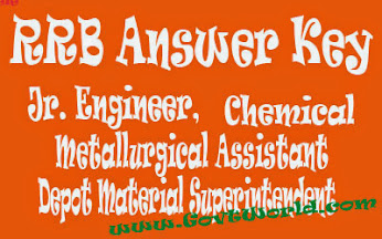 RRB JE Answer Key 2016 Junior Engineer DMS & Chemical