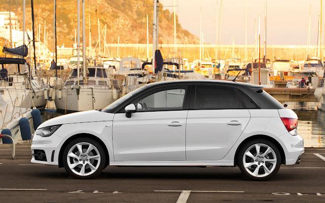 The Audi A1 Sportback side