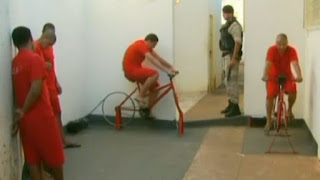 Inmates Use Bikes to Generate Electricity, Brazilian, Brazil, Prison
