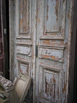 Blue French Door Exterior