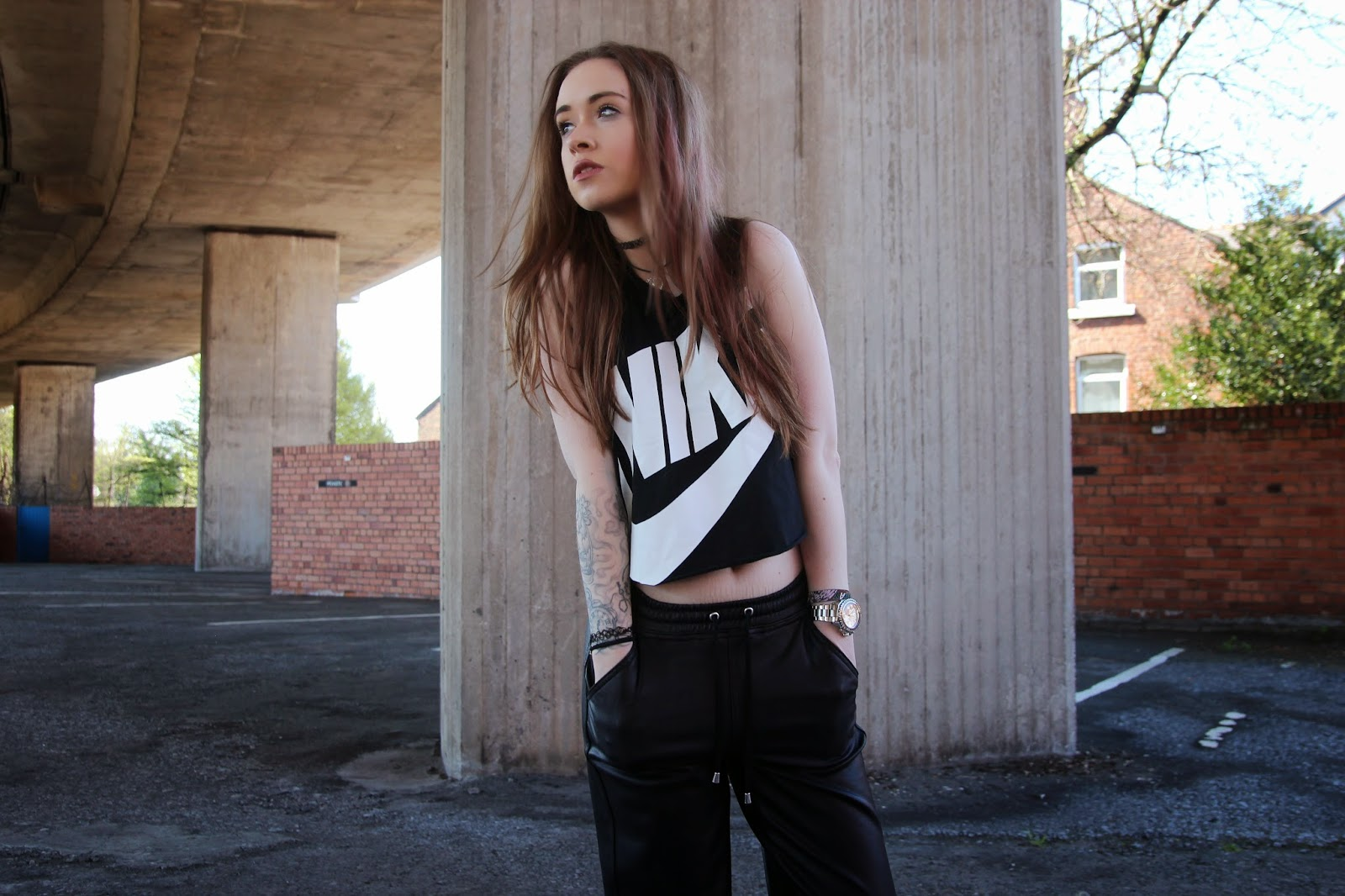Nike, crop, fashion, blogger