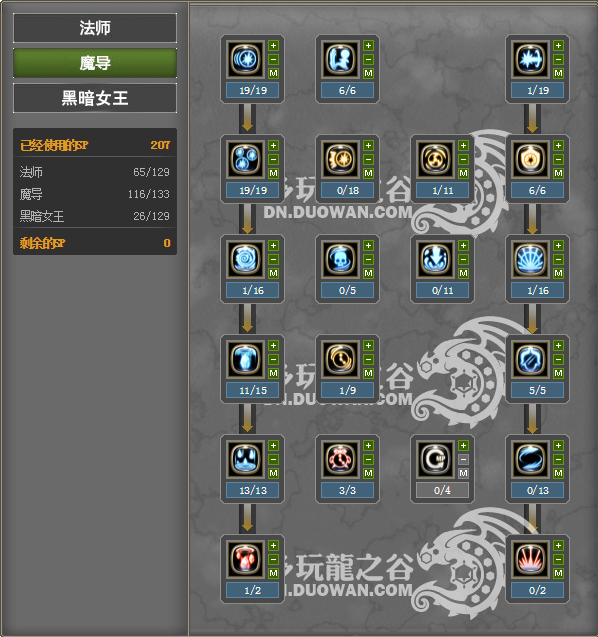 Skill Build Majesty Level 80 PURE PVE Dragon Nest