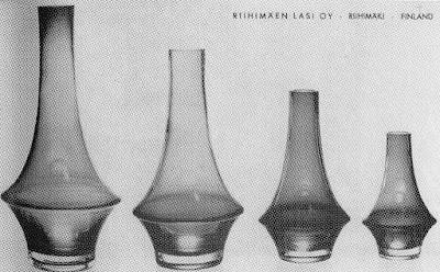 Riihimäen Lasi Oy vientikuvasto1964-65