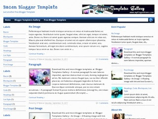 Bacen Blogger templates