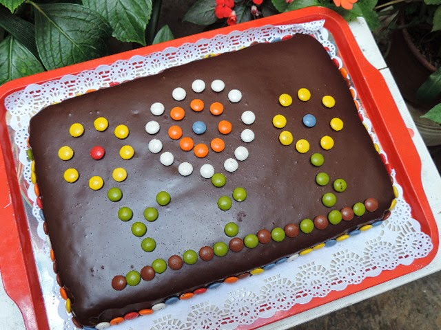 marronglac Tarta chocolate con lacasitos