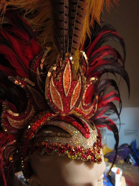 Fire carnival headpiece