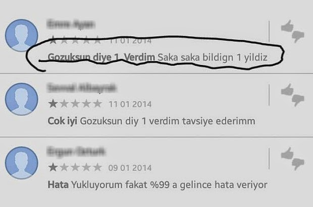 Google Play Yorumlarına İnanmayın