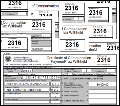 Withholding tax form payment