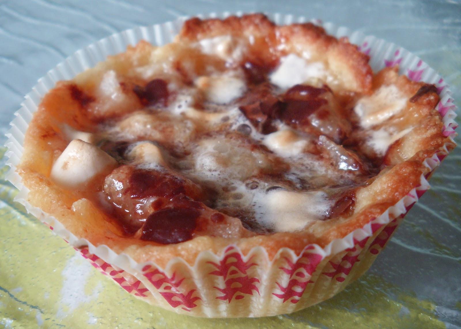 gateau gaga cakes tartelettes poires chocolat et chamallow