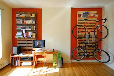 Colgador de pared con palets