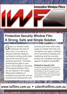 Innovative Window Films are experts in protective security film