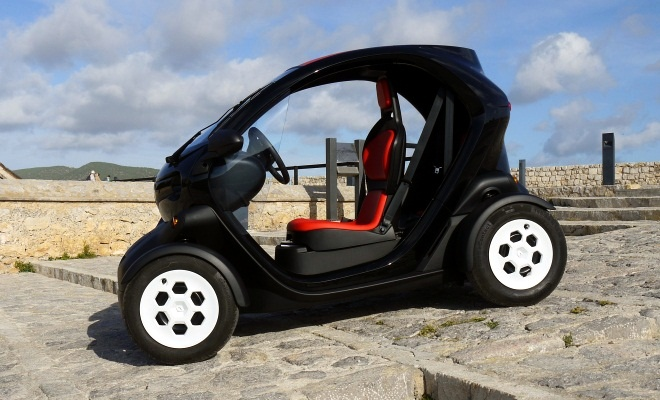 Renault Twizy without doors from the side