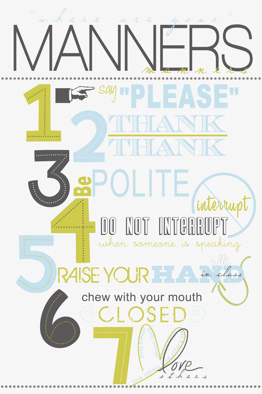 Persnickety Prints Blog Wall Art Manners