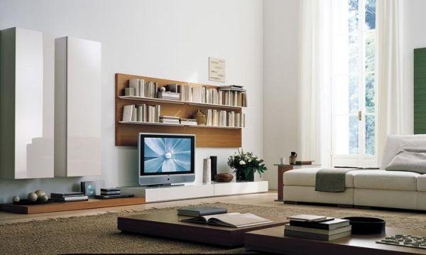 Sala De Tv Pequena Y Moderna ~ Salas modernas con muebles de Tv
