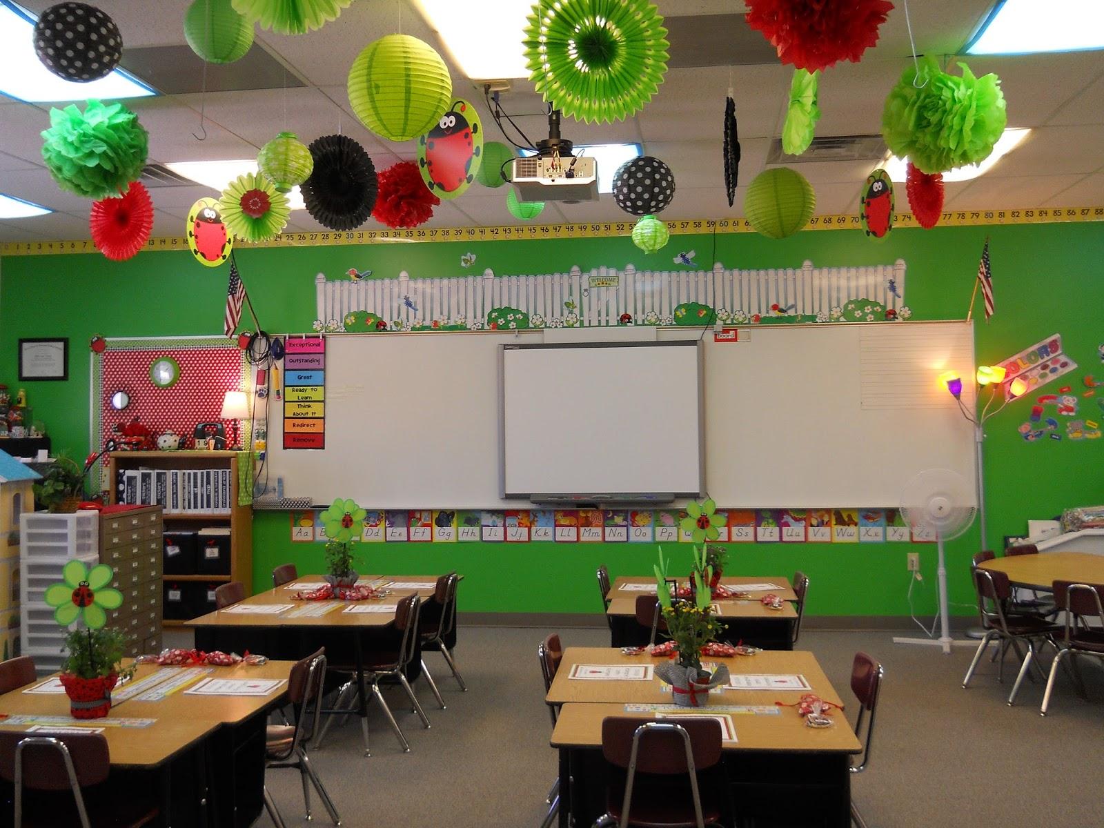 Classroom Decoration Colors ~ Nikkindergarten my  classroom ladybug theme